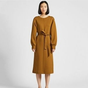 Uniqlo Jersey Belted Long Sleeve Dress